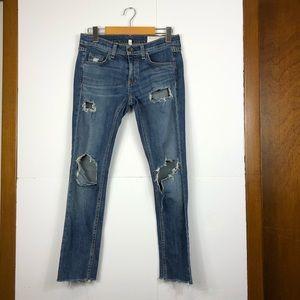 Rag & Bone Distressed Dre Capri jeans Sz 24